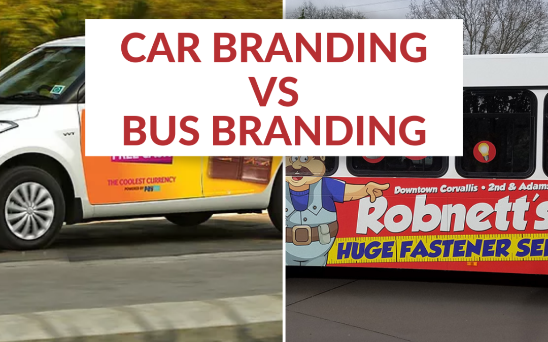 What is the difference between car branding and bus branding?