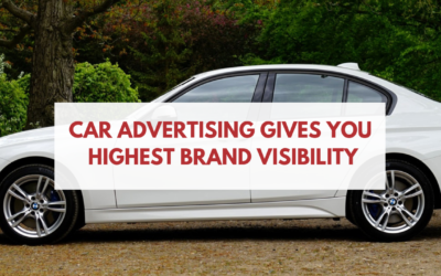 Car Advertising with BrandOnWheelz Gives you Highest Brand Visibility Compared to any Offline Media