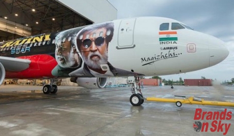 Full flight wrap with Sir Rajni Thaliva Poster