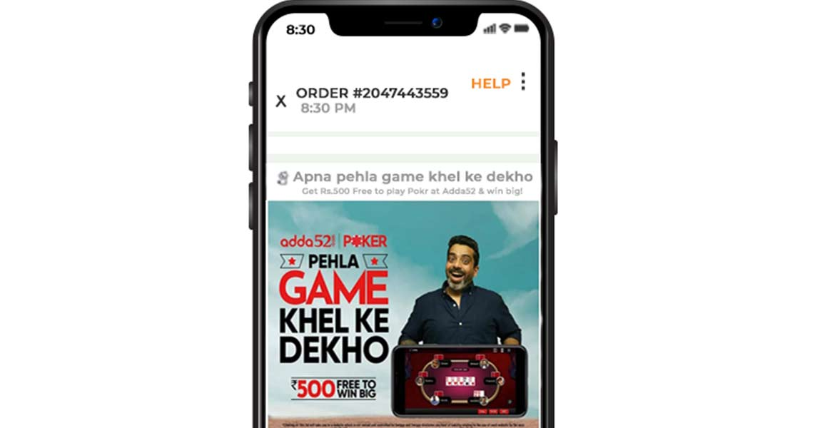 Swiggy In App Advertising-Adda52